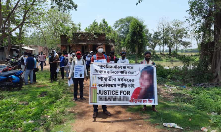 Students protesting the rape and murder of Jana in West Bengal.  Last year there were almost 250,000 rape cases pending in Indian courts.