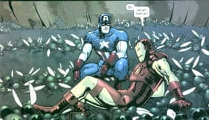 A panel from Campbell's take on Captain America in 2004.