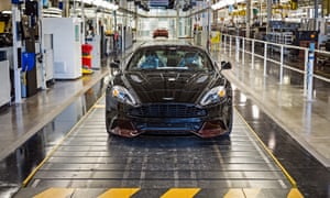 The Aston production line in Gaydon, Warwickshire.