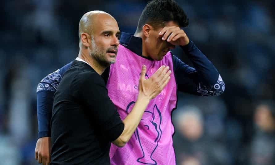 Pep Guardiola consoles Rodri after Manchester City's defeat by Chelsea in May's Champions League final. The midfielder said: 'It is football, you move on.'