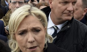 Marine Le Pen and her bodyguard Thierry Légier