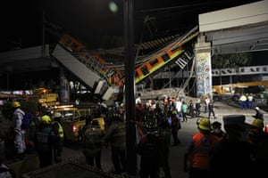 The accident happened around 10.30pm local time on the metro's Line 12, also known as the Gold Line. It was opened in 2012
