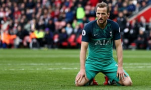 "Southampton v Tottenham Hotspur, Premier League, Football, St Mary's Stadium, Southampton, UK - 09 Mar 2019<br>EDITORIAL USE ONLY No use with unauthorised audio, video, data, fixture lists (outside the EU), club/league logos or ""live"" services. Online in-match use limited to 45 images (+15 in extra time). No use to emulate moving images. No use in betting, games or single club/league/player publications/services. Mandatory Credit: Photo by James Marsh/BPI/REX/Shutterstock (10149150dk) Harry Kane of Tottenham Hotspur looks dejected. Southampton v Tottenham Hotspur, Premier League, Football, St Mary's Stadium, Southampton, UK - 09 Mar 2019"