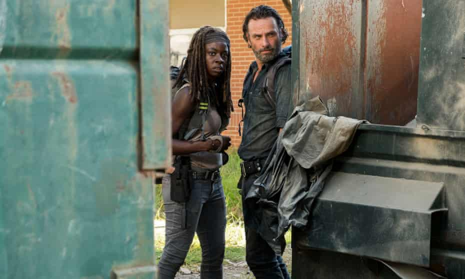 'As I said to my wife, why don't we have dates like that?' … Rick and Michonne go on a zombie killing frenzy.