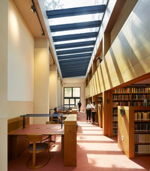 The light-filled library, a social as well as an academic hub