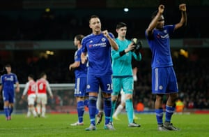Chelsea celebrate at the final whistle.