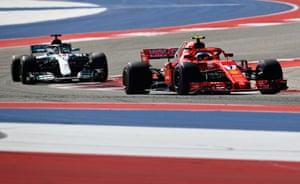 Raikkonen leads Hamilton.