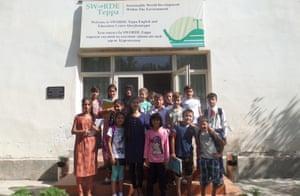 A class at the Sworde Teppa school in Tajikistan.