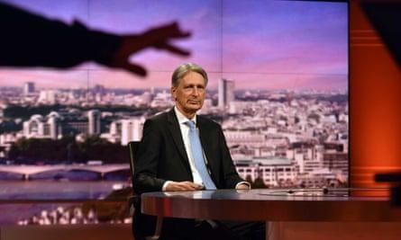 Philip Hammond on the BBC's Andrew Marr Show.