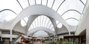 Let there be light … The new atrium brings daylight into the station for the first time.