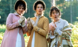 Biff! … (l to r) Victoria Hamilton, Emma Roberts and Sophie Thompson as the Musgrove sisters in the 1995 film of Persuasion.