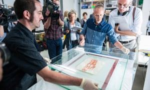Preparations for the new exhibition of art from Gurlitt's hoard at the Bundeskunsthalle Bonn