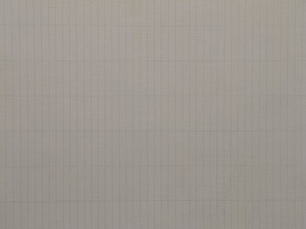 Agnes Martin, The Peach (detail)