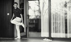 Louis Tomlinson by an open door