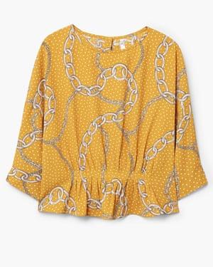 Chain print blouse, £35.99, mango.com