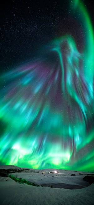 Aurora Borealis looking like a phoenix