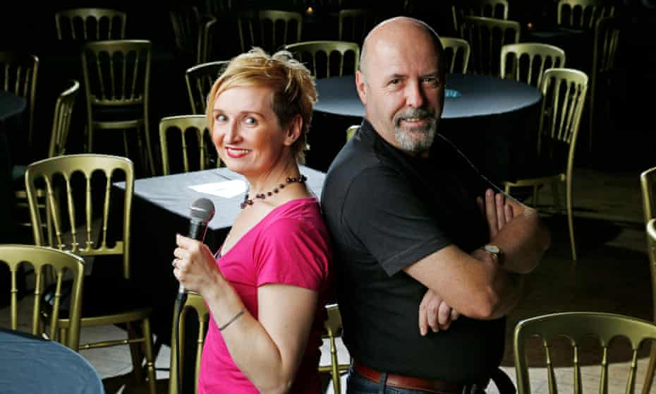 Debbie Greaves and Jim McGrath at the Voodoo Rooms in Edinburgh.