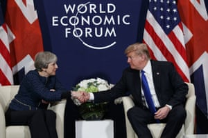 President Donald Trump meeting with British Prime Minister Theresa May.