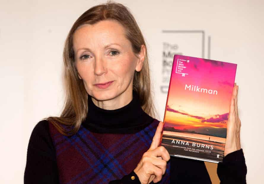 Man Booker prize shortlisted author Anna Burns poses with her book Milkman during a photocall at the Royal Festival Hall, two days ahead of the announcement of the winner, October 2018