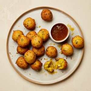 Yotam Ottolenghi Stilton hush puppies with maple butter