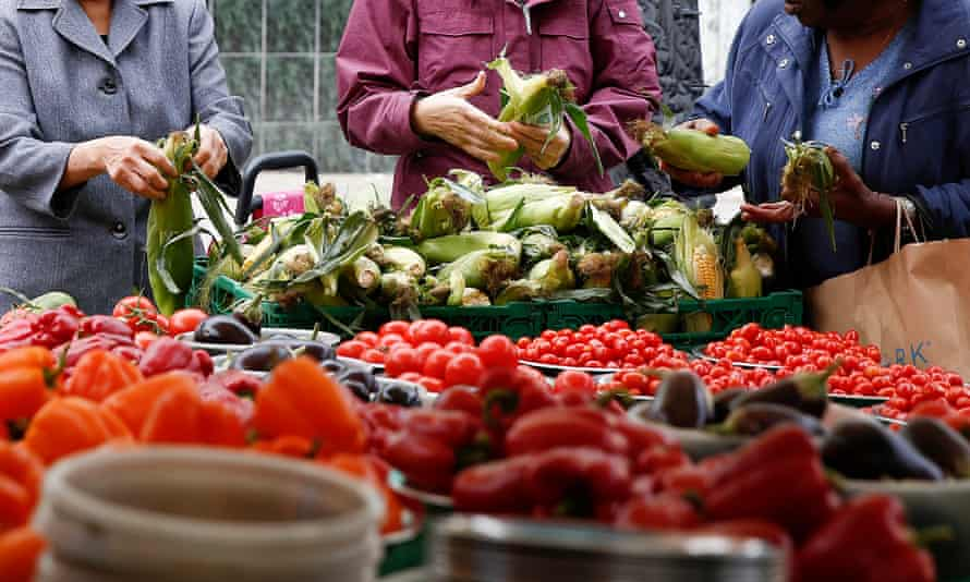 Fruit seller in market