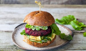 The burger that is on everyone's lips is made of beetroot.