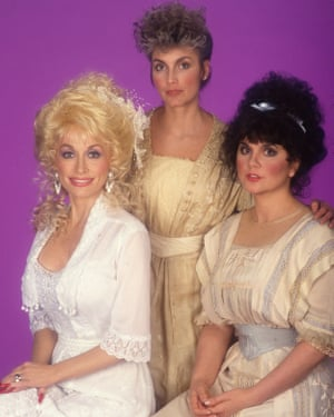 'I could call up Emmylou Harris and we would sing together over the phone.' Dolly Parton, Emmylou Harris and Ronstadt in 1987.