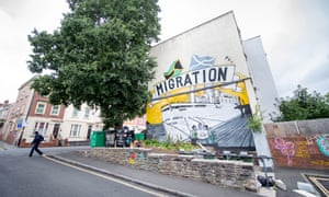 The Windrush mural in the St Paul's area of Bristol.