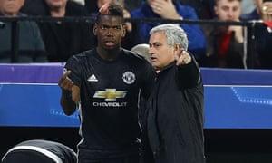 Paul Pogba and José Mourinho