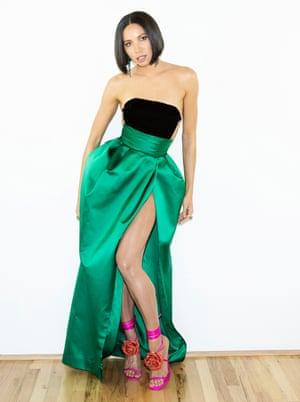 Jurnee Smollett in an Alexandre Vauthier gown