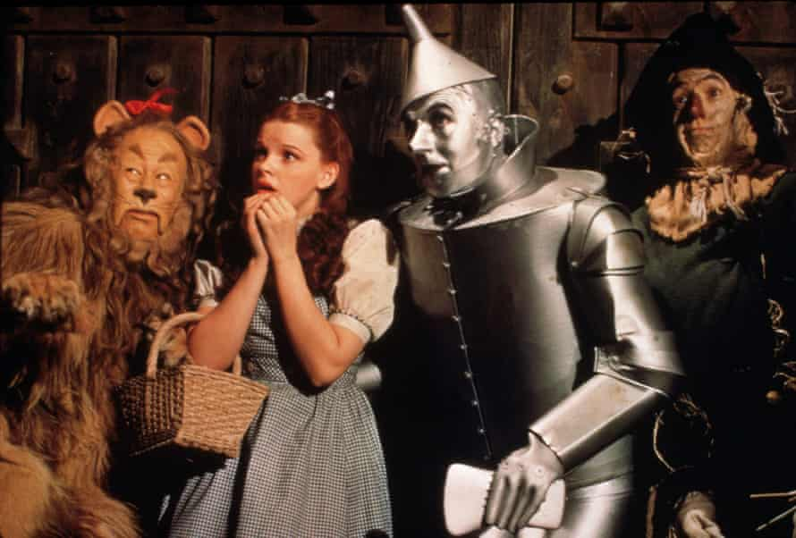 The lion, Dorothy, the tin man and the scarecrow