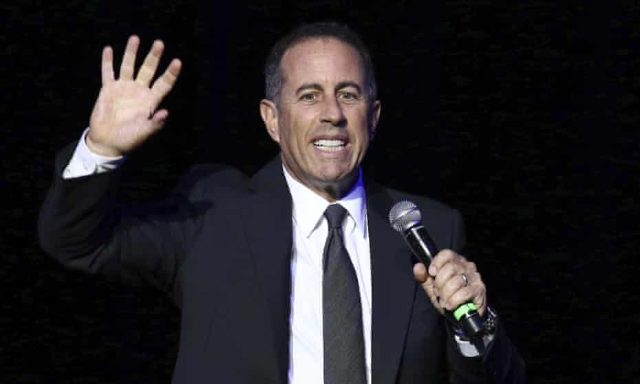 Jerry Seinfeld on stage in New York this month