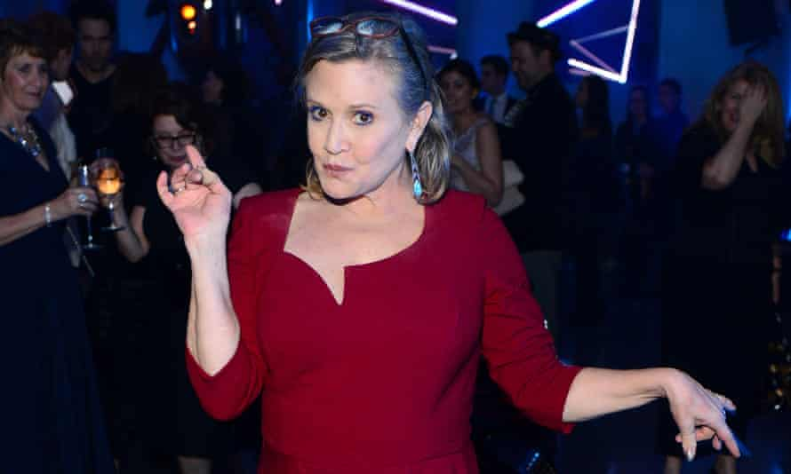 Star Wars 'The Force Awakens' European premiere afterparty at Leicester Square, London, Britain on 17 Dec 2015.<br>17 Dec 2015, London, England, UK --- MANDATORY BYLINE: Jon Furniss / Corbis Carrie Fisher attending the Star Wars 'The Force Awakens' European premiere afterparty at Leicester Square, London, Britain on 17 Dec 2015. Pictured: Carrie Fisher --- Image by © Jon Furniss / Corbis/Splash News/Corbis