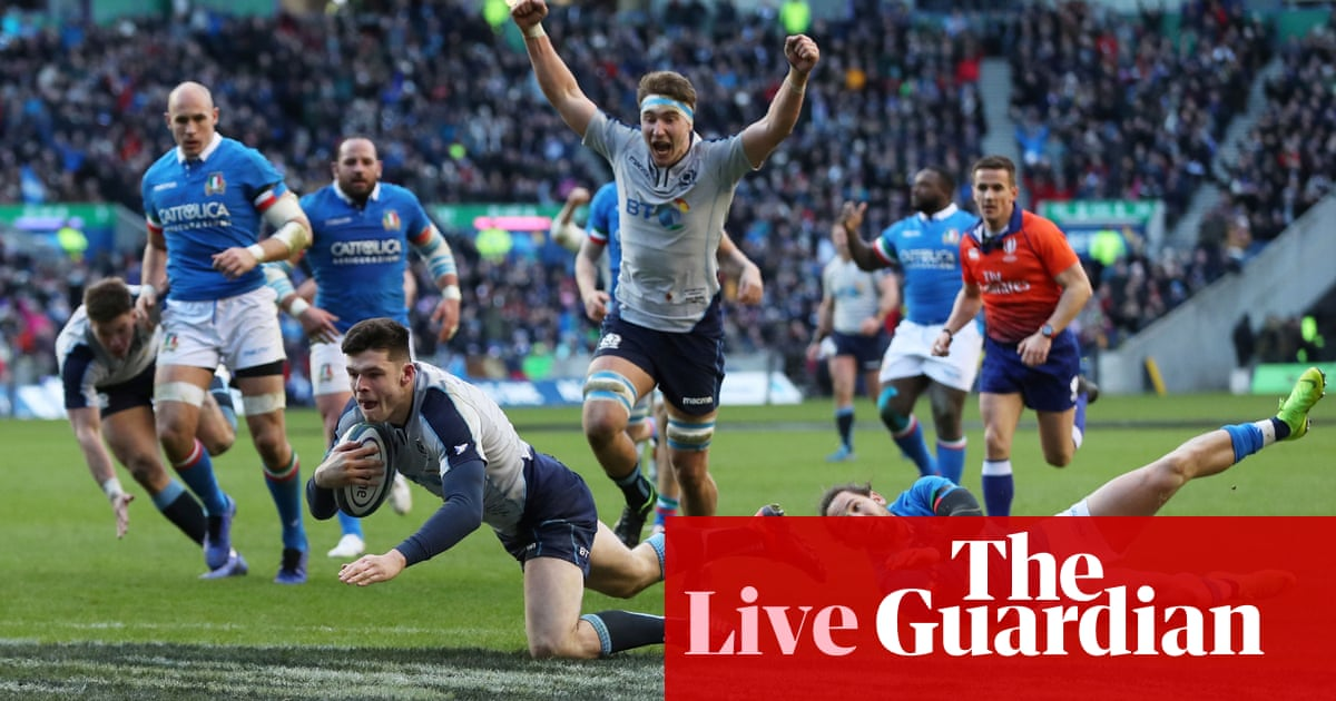 9acc8ad9b24 Scotland 33-20 Italy: Six Nations 2019 – as it happened | Sport ...