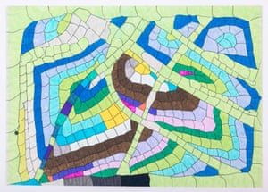 A recent, geometric mosaic: Untitled, c. 2012-14.