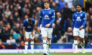 Ross Barkley of Everton looks dejected after Chelsea score their first goal during their Premier League match last month.