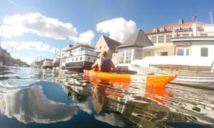 Kayaking around Copenhagen