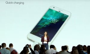 Sabrina Ellis talks about the 'quick charging' Pixel at Google's launch.