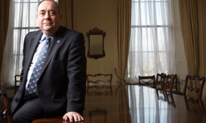 Alex Salmond at his official residence Bute House in 2012.