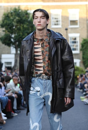 Martine Rose: Martine Rose used a cul-de-sac in Camden, north London, for her early evening show. The result? An epic celebration of London town and the celebrated Brit designer's personal brand of streetwear. Street style never looked so good.