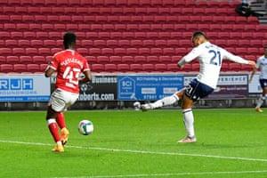 Anwar El Ghazi of Aston Villa scores the opener.