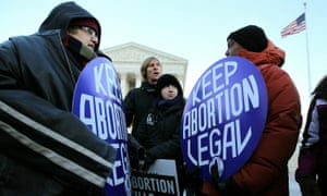 Pro-choice campaigners at the supreme court. The Alabama bill would ban all abortions and include exemptions for the health of the mother, but not for rape and incest.
