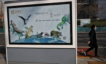 A poster in Beijing promoting wildlife as friends instead of food