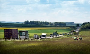 The A303 near Stonehenge, Wiltshire, one of the sites earmarked by the chancellor for new road construction or upgrades.