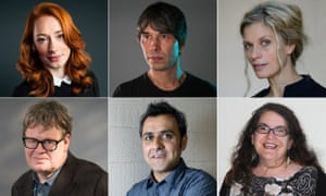 Radio 4 science voices (clockwise from top left) Hannah Fry and Brian Cox and, for the arts, dancer Crystal Pite, novelist Naomi Alderman, poet Daljit Nagra and arts chief James Runcie.