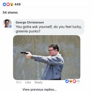 George Christensen Facebook post on 18 February 2018