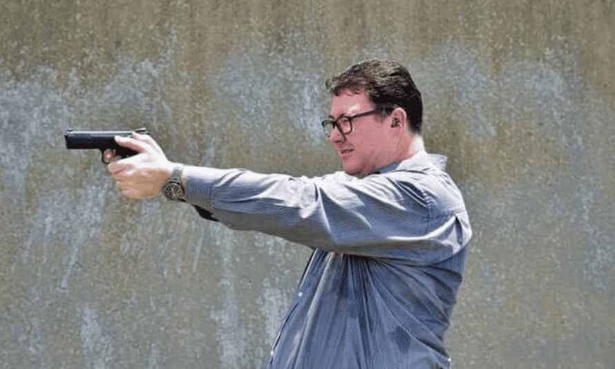 George Christensen posted this photo to Facebook post on Saturday with the caption: 'You gotta ask yourself, do you feel lucky, greenie punks?'
