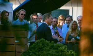 Nigel Farage attends a fundraiser for Lou Barletta in Pennsylvania.