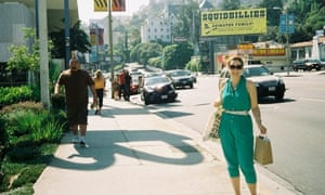 Sophie Heawood on Sunset Boulevard in Los Angeles in 2009.