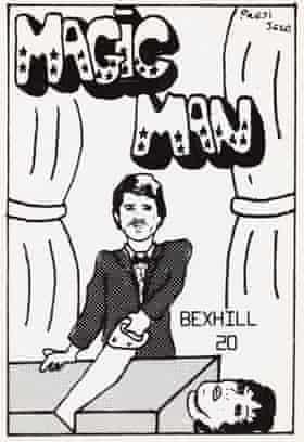 Magic Man eyeball card.